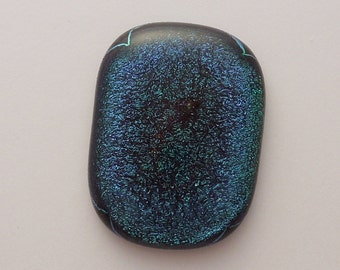 Dichroic Fused Glass Cabochon - Gem Stone - Cabochon Cab - Bead Supply- Glass Bead - Wire Wrapping - Jewelry Making - Stained Glass 4215