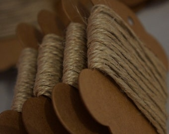 10m Natural Burlap Jute Twine String 2mm ~ Rustic/ Shabby Chic/ Vintage ~ *Gifts *Home Decor