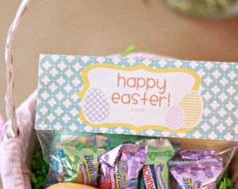 IMMEDIATE Download-Easter Treat Bag Tags: Easter Eggs - Printable PDF