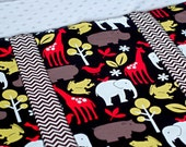 Black Zoology Car Seat Blanket