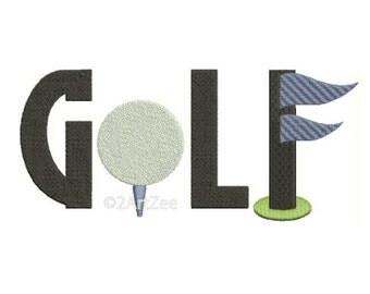 Golf Machine Embroidery Design