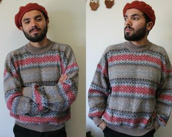 Vintage 80s/90s Good Vibrations Acrylic Sweatshirt