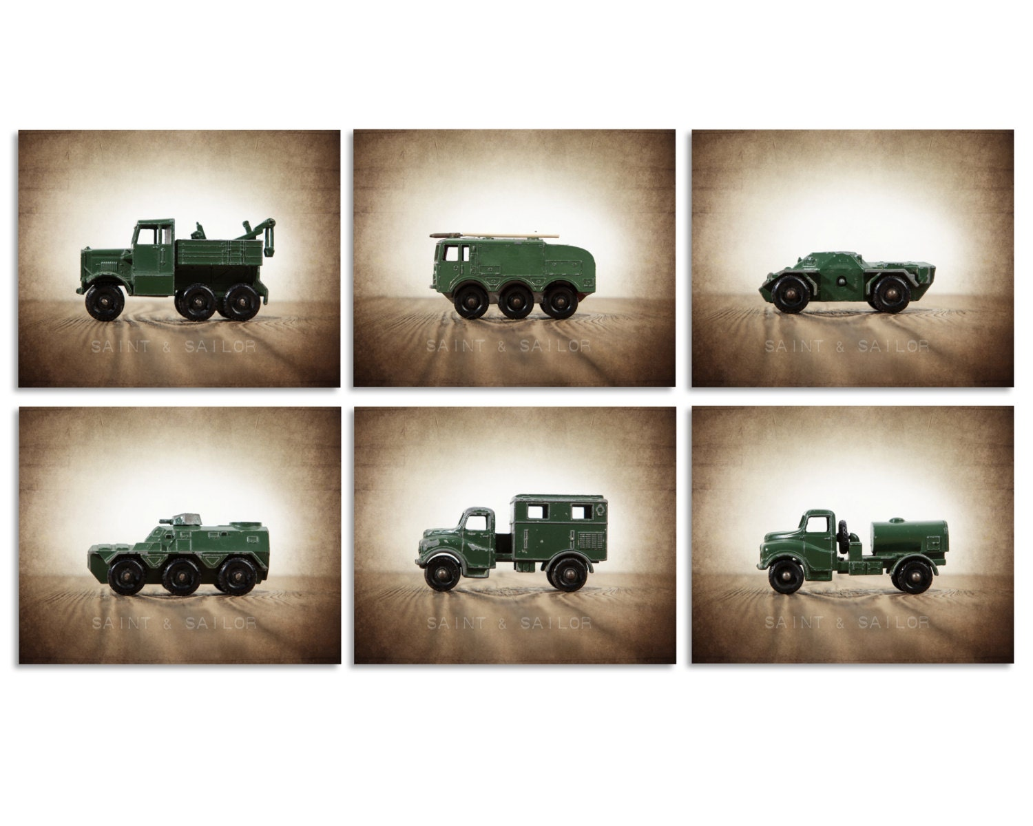 Usaf Wall Decor : Military wall art vintage vehicles set of photo