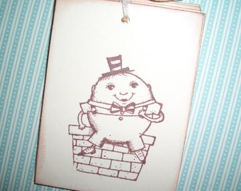 Humpty Dumpty Tags - Nursery Rhyme Tags -  Adorable Image -  Baby Tags - Shower - Wish Tree tags - Wish Cards Set of Six