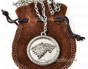 """Stark medallion necklace """"Winter is Coming"""""""