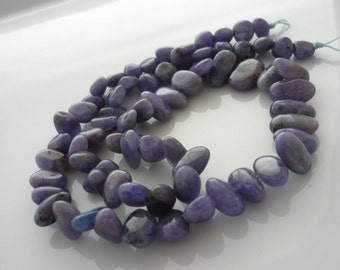 Tanzanite smooth polished oval beads 5-9mm 1/2 strand