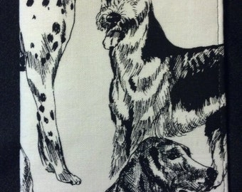 Dalmation Doxie Checkbook Cover
