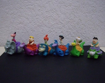Flintstones Dino Racers, Complete 1991 Dennys Happy Meal Set