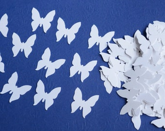 White Die Cut Butterflies, Table Decoration, Wedding Confetti Butterfly, Die Cuts for Scrapbooking or Cardmaking