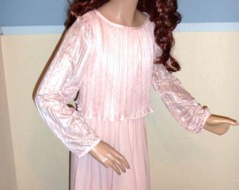 80s Baby Pink Crepe Dress XS
