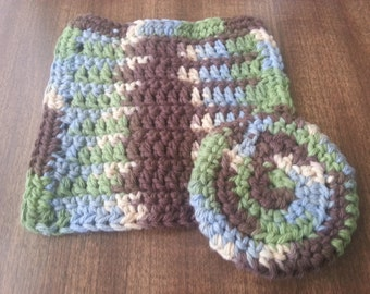 Crochet Cotton Reusable Dishcloths/Washcloths- Set of 2 in ...