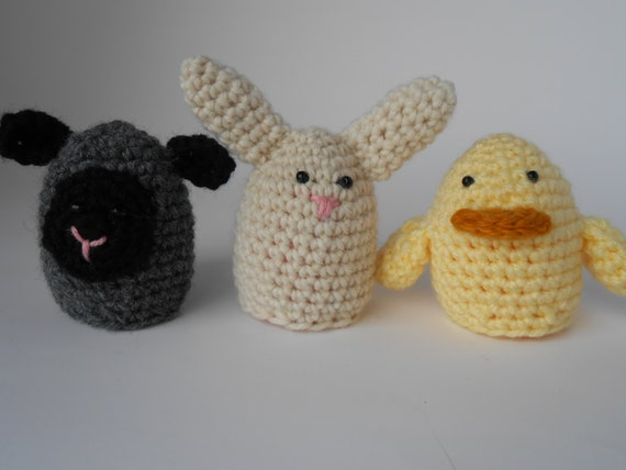 Easter Spring Egg Bunny Rabbit Duckling and Lamb by ...