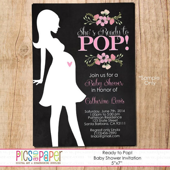 Items Similar To She S Ready To Pop Baby Shower Invitation With
