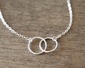 Sterling Silver Everlasting Ring Necklace- delicate everyday symbolic ring necklace
