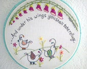 Whimsical Bird PDF Embroidery Pattern