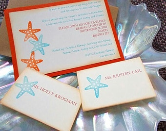 Starfish Bridal Shower Invitation Set of 50 (No. 115)