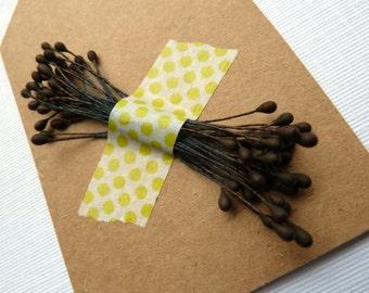 Vintage Bronze Brown Floral Stamens