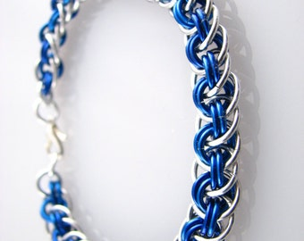 ON SALE Viper Basket Chainmaille Bracelet - Choose Your Color