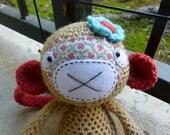 Macy the Monkey Crocheted Toy