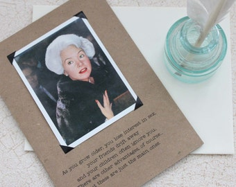 Funny Birthday or Friendship Card for Her Advantages of Growing Older Sassy Saying