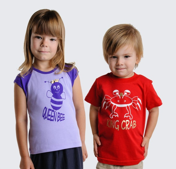 Matching brother sister shirts, big brother little sister, big sister little brother t-shirts, 2T 4T 6T