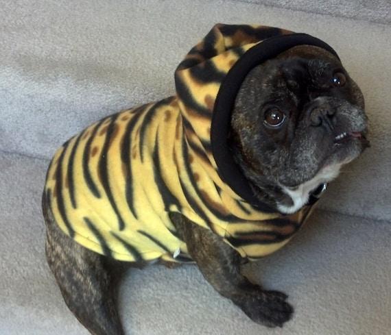 French Bulldog Tiger Fleece Hoodie