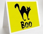 Halloween Card, Black Cat