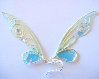 Masquerade Ball Fairy Wing Earrings, Fancy Faerie Earrings, Enchanted Faery Earrings, Custom Made