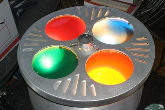 Vintage Evergleam Tri-Lite Color Wheel Revolving Aluminum