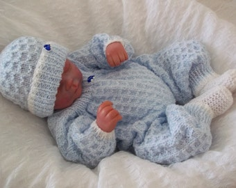 Baby Knitting Pattern - Romper, Hat & Bootees - Download PDF Knitting Pattern - Great for Reborn Dolls too!
