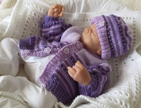 Baby Knitting Pattern - Boys, Girls or Reborn Dolls Digital Download PDF Knit...
