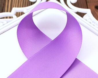 Purple 5/8 Solid Grosgrain Ribbon - Choose, 1, 5 or 10 yards -  Hairbow Supplies, Etc.
