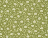 Verna Mosquera - Pirouette - Tonal Rose in Moss - cotton quilting fabric BTY
