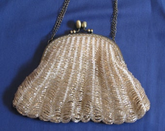 Vintage inspired,hand knit,Art Deco