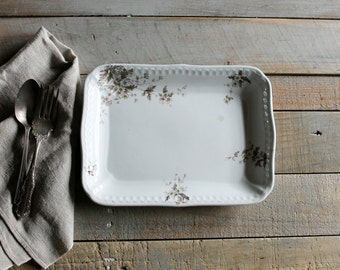 Vintage Rectangle Platter / Vanity Tray
