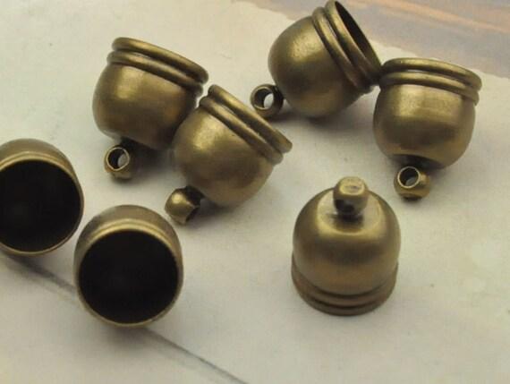Metal caps pcs antique bronze end cap connectorsbrass