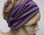 Yoga Wrap Lilac Ballerina Hair Wrap Rayon Work Out Stretchy Ballet Exercise Headband