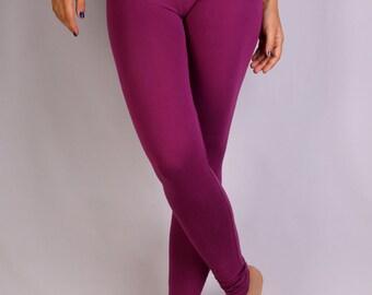Purple India Leggings in  Rayon Lycra - Dance wear, Yoga wear, Active wear, Casual wear