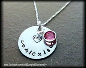 Hand Stamped Personalized Mother Daughter Silver Necklace Christmas Secret Santa Gift