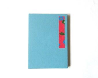 6x4 accordion photo album, journal - sky blue