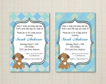 Puppy Baby Shower or First Birthday Invitation -  Many Puppy Options - You Print