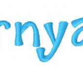 """Barnyard Machine Embroidery Font  .75"""", 1"""", & 1.25"""" (upper and lower A-Z) INSTANT DOWNLOAD now available"""
