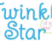 "Twinkle Star Embroidery Font 1.0"", 1.5"",& 2.0"" INSTANT DOWNLOAD now available"