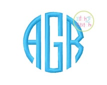 """Natural Circle Monogram Embroidery Font  1.5"""", 2.0"""", 2.5"""" & 3"""" INSTANT DOWNLOAD now available"""