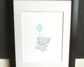 Up, Up and Away - Nursery Art Print - 7 Animals