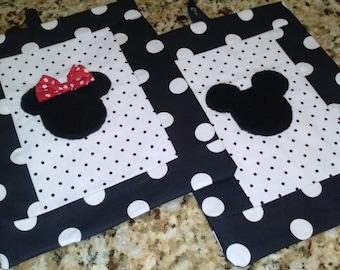 Mickey &Minnie pot holder set