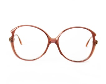 Transparent Red Brown Vintage Eyeglasses - Silhouette 80's frame - NOS Glasses