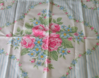 On Sale AVON rose flowers polyester scarf. Made in Italy