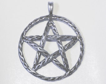 Large Sterling Silver Wiccan  Jewelry Pentacle Pentagram GORGEOUS  Pent002