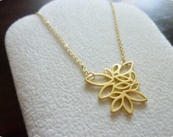 AUTUMN RHYME- Multi Leaf Necklace